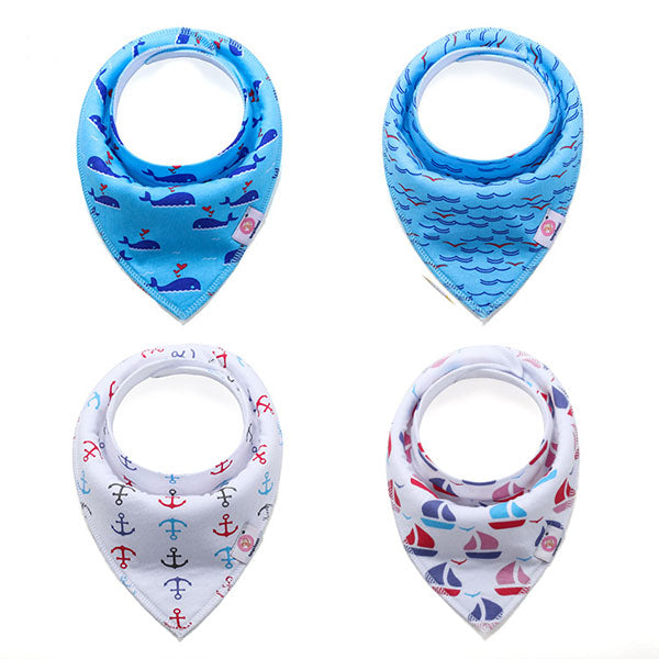 4-pack Solid Cotton Baby Bibs