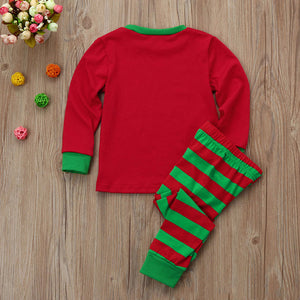 Sweet Letter Christmas Long Sleeve Family Matching Set
