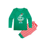 Cheerful Patterned Christmas Family Matching Pajamas Set
