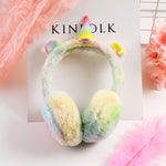Unicorn Gradient Plush Warm Earmuffs For Kids