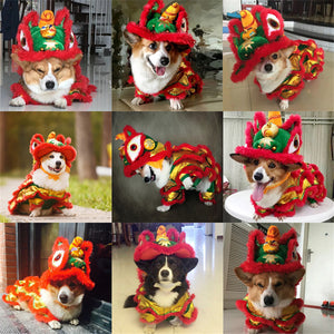 Christmas Corgi French bulldog Teddy Festive Golden Lion Handcrafted Coat