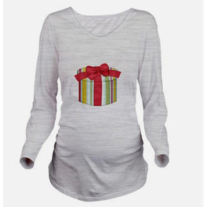 Maternity Gift Pattern Long Sleeve Tee