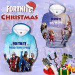 3D Christmas Fortnite Hooded Fleece For Adult and Kid