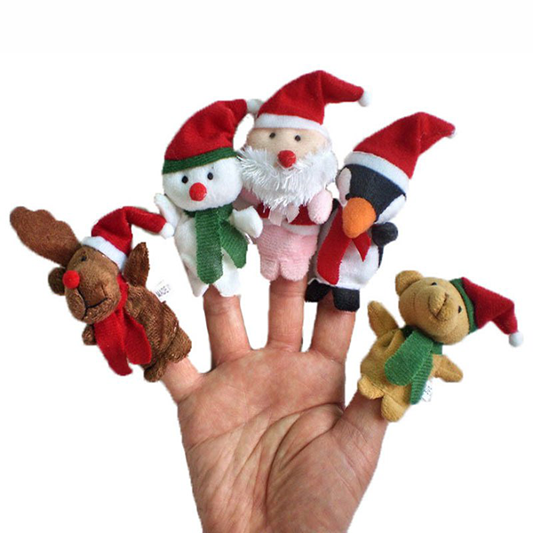 5Pcs Christmas Santa Story Time Finger Puppets-Deals-Prime4Choice.com-