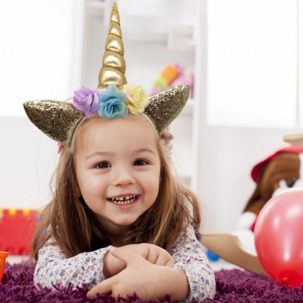 Trendy Unicorn Design Birthday Hairband for Girl