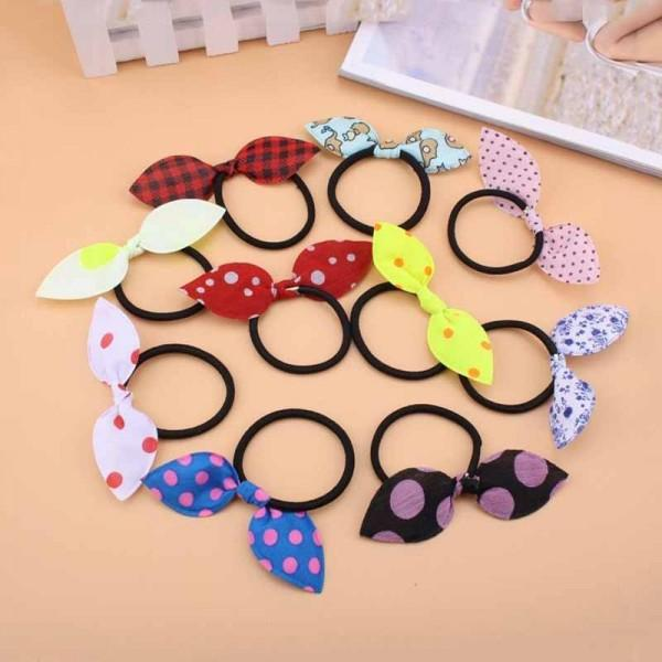 10-pack Sweet Bowknot Decor Hairband Set for Girl