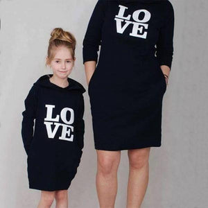 7aba745476dd Love Black Hoodie Matching Dress – Binnvy.com