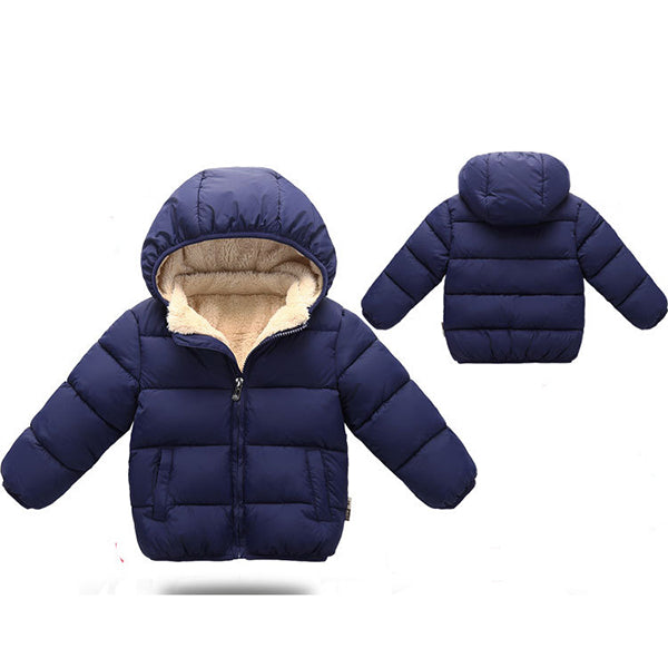 Cold Winter Thickened Fleece Kids Cotton-Padded Jacket