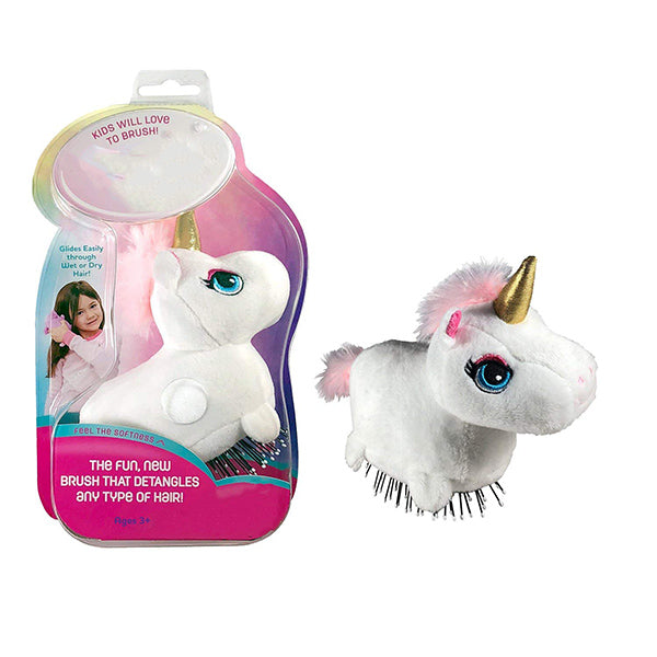 The Detangling Brush in a Plush-SPARKLES THE UNICORN