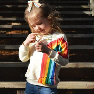 Pretty Rainbow Print Long-sleeve Tee for Toddler Girl and Girl