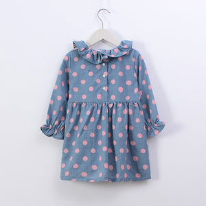 Cute Wave Dot Skirt For Kids