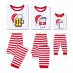 Funny Beer Coffee and Milk Jolly Christmas Pajamas
