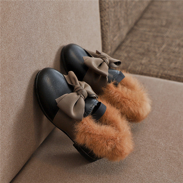 Artificial Leather Plush Horsebit Loafer