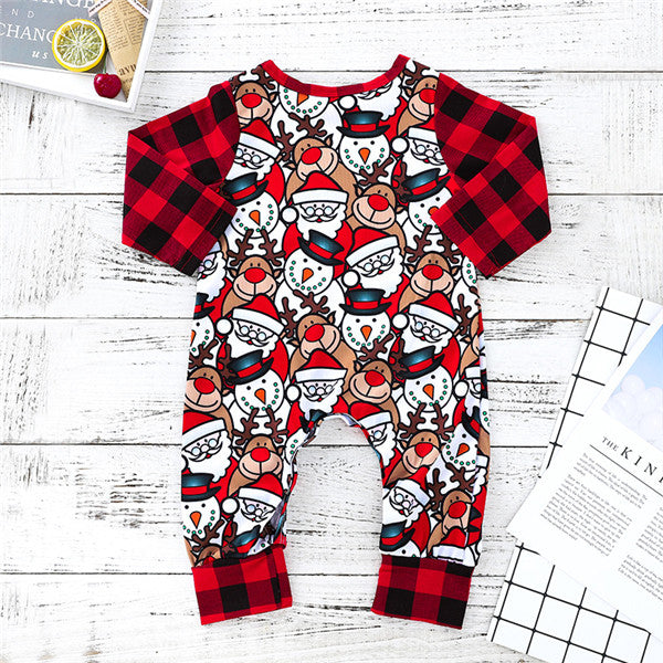Christmas Pattern Baby Long Sleeves Jumpsuits