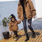 Shearling Lamb Coats Mommy and Me Matching Coats