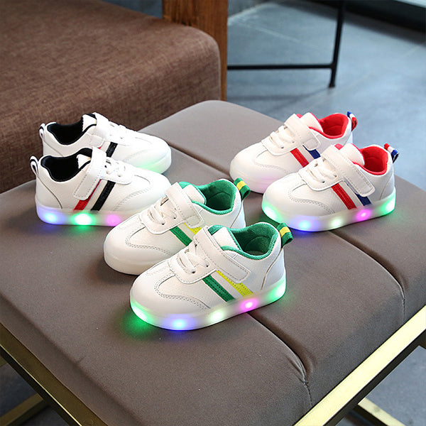 Comfy Color Block LED Sneakers for Toddler and Kid