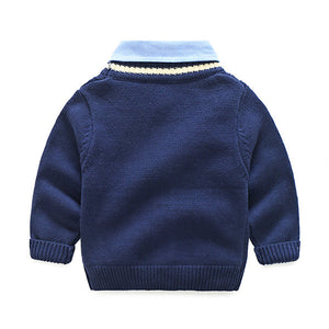 Fake Two Thick Sweater for Kids
