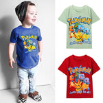 Adorable Pokemon Go 3D Print Short Sleeves Top for Kids
