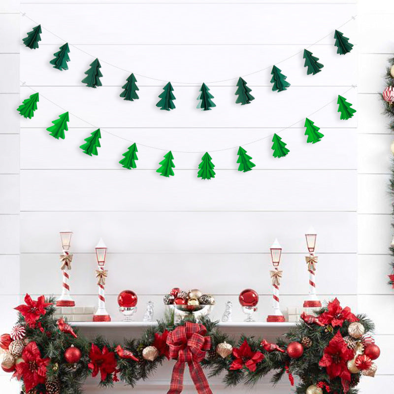 Small Christmas Tree Paper String Decoration