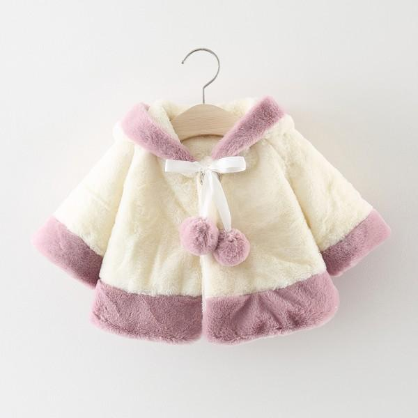 Adorable Deer Design Hooded Coat for Baby Girl