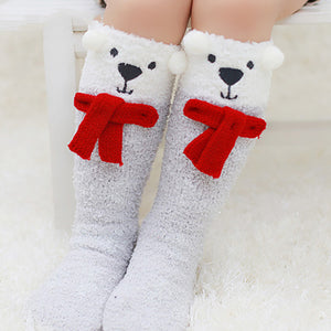 Coral Velvet Animal  Pattern Socks