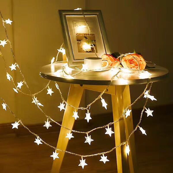 Christmas Decoration Starlike Design String Lights -- Warm Light