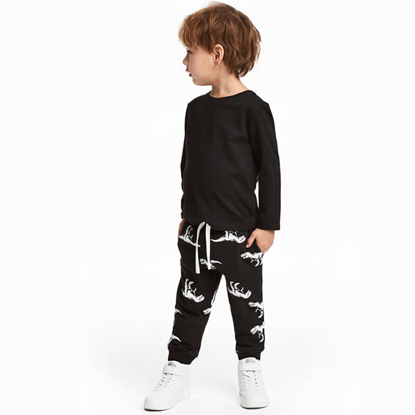 Kid's Dinosaur Pattern Printed Long Pants