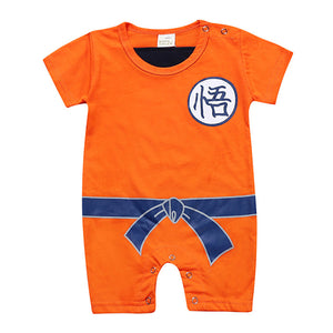 Cartoon Kakarotto Design for Baby and Kid -- Short Romper