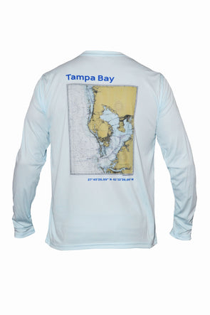 Men's Tampa Bay Map L/S - Artic Blue
