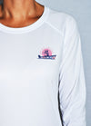 "Women's ""Old Florida"" Floral Design L/S - White"