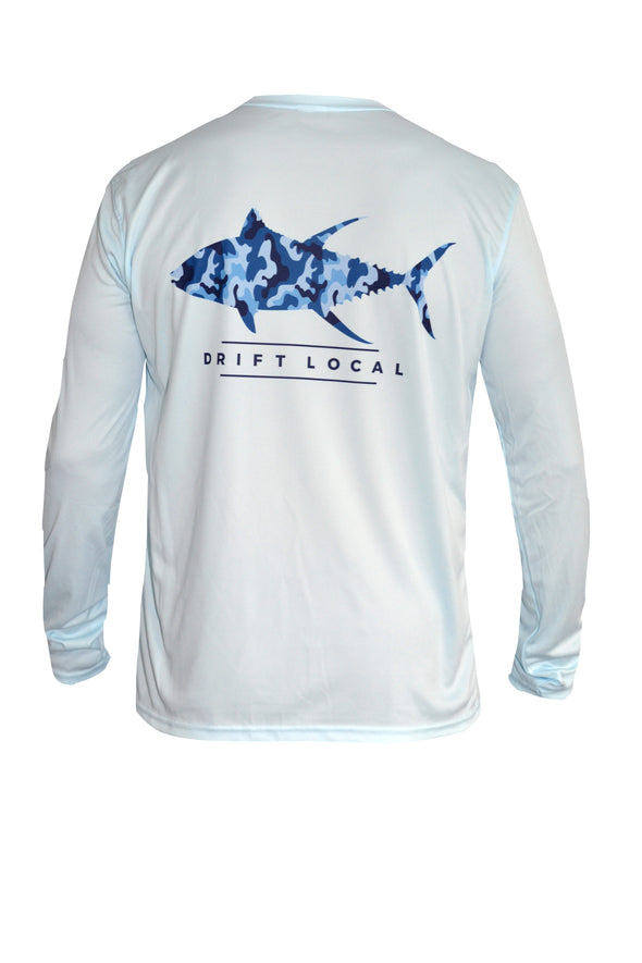 Men's Tuna in Blue Camo L/S - Artic Blue