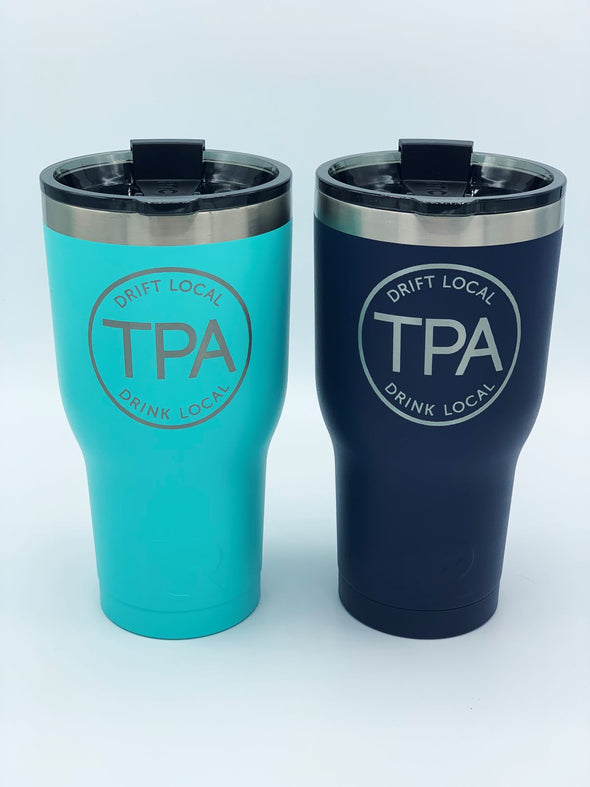 """Drift Local, Drink Local"" TPA Etched RTIC 30oz. Tumbler"