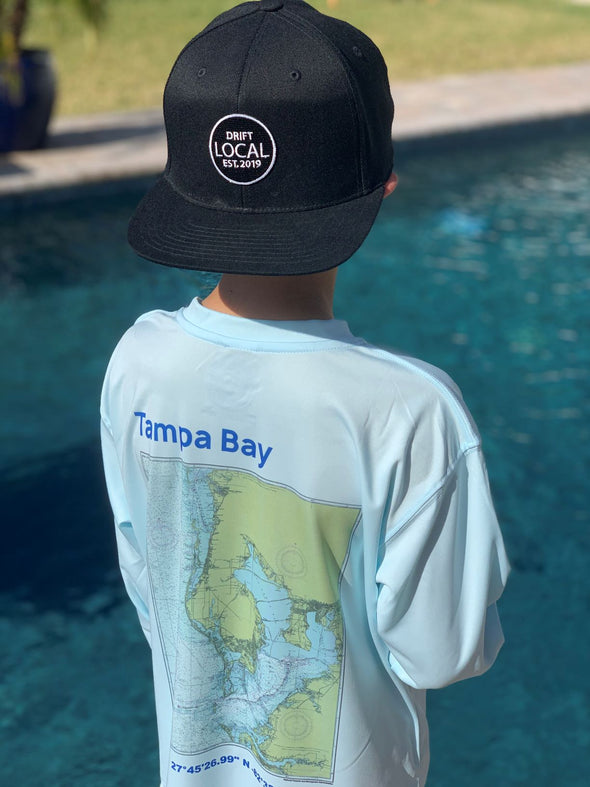 Youth Tampa Bay Map L/S - Artic Blue