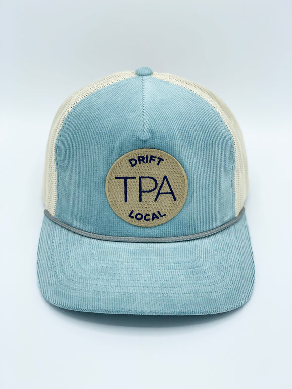 Tampa Hat - Light Blue/Sand w/Khaki Colored Patch