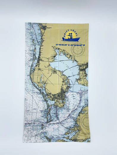 Tampa Bay Map Sun Neck Gaiter