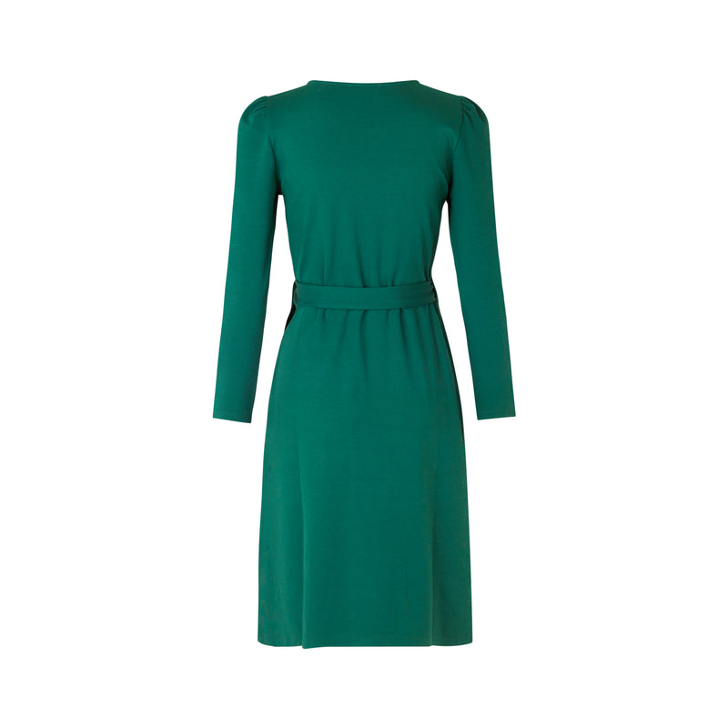 SCARLETT WRAP DRESS (GREEN)