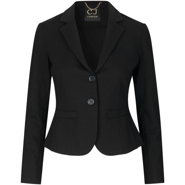 washable and sustainable travel black blazer