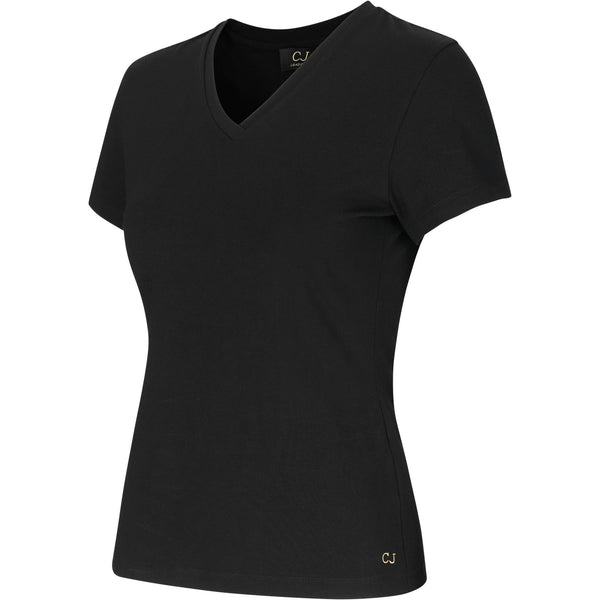 v-neck black t-shirt from sustainable fabric