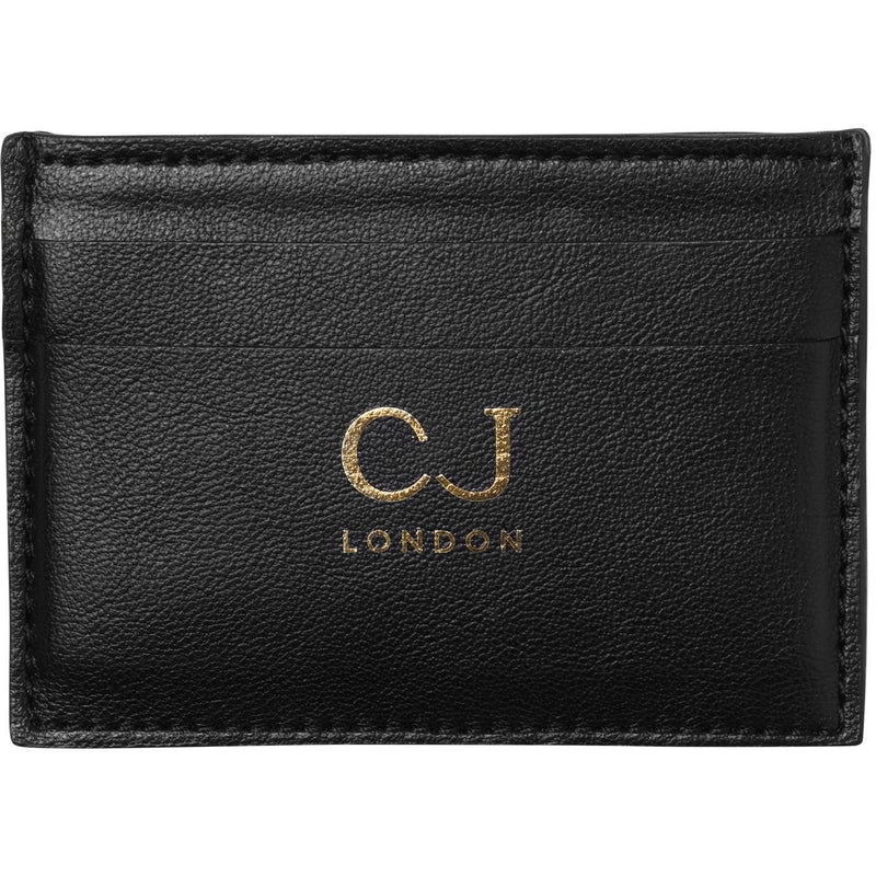 Vegan leather card holder in black