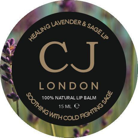 100 % natural lip balm lavender and sage