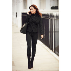 sustainable material black leggings autumn