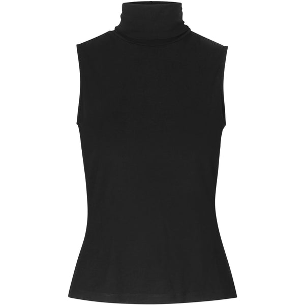 black turtleneck top from sustainable fabric