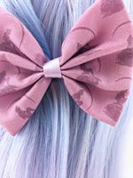 CLEARANCE! The Little Mermaid Inspired Pastel Purple Medium Fabric Hair Bow