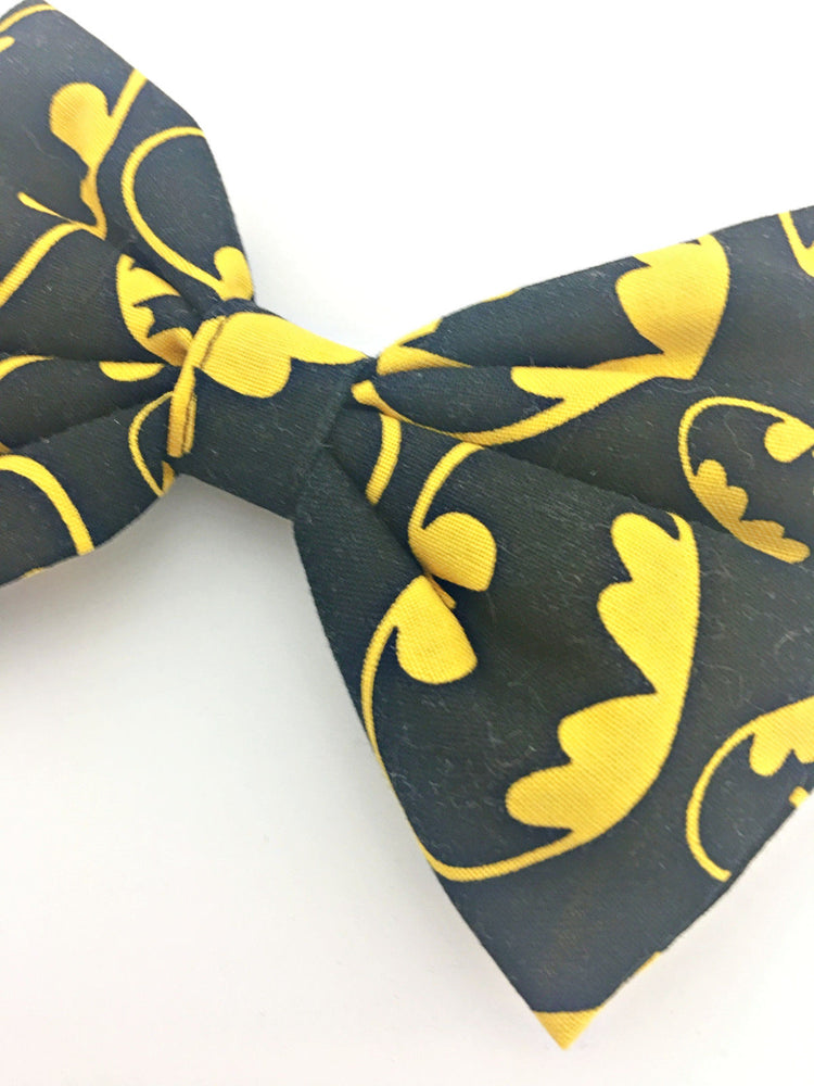 Batman Black & Yellow Print Large Hair Bow