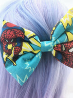 Spiderman Comic Book Large Hair Bow - Superhero Hair Clip