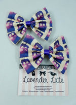 Doctor Who Galaxy TARDIS Handmade Fabric Hair Bow