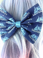 Dark Blue Hogwarts Castle Fabric Hair Bow