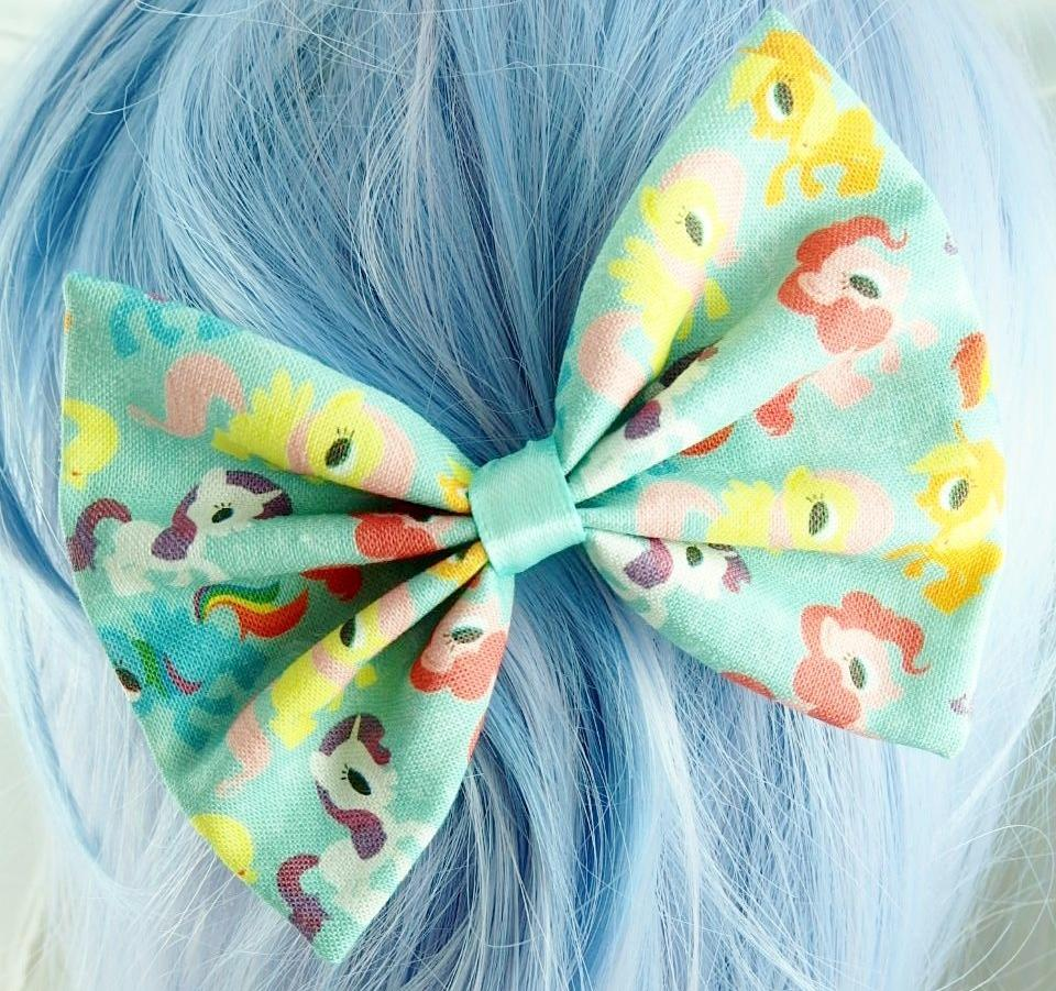 My Little Pony Pastel Mint Fabric Hair Bow