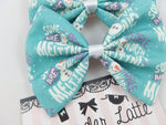 CLEARANCE! Frozen Inspired Handmade Hair Bow - Olaf Snowman Hair Clip Accessory