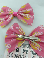 California Dream Barbie Hot Pink Girly Fabric Hair Bow Girly Girl